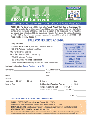 Friday Nov 7 ADCO Fall Conference - Childcare Today - childcaretoday