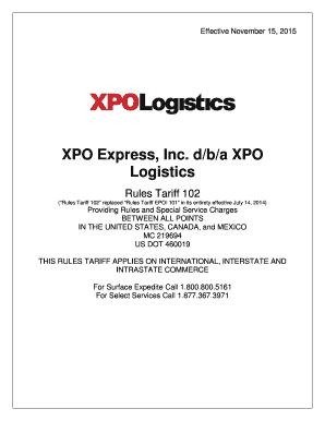 Fillable xpo logistics carrier setup - Edit Online & Download