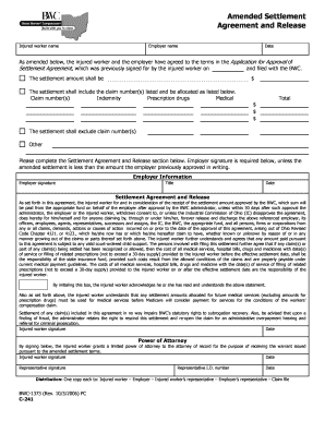 Editable Settlement Agreement And Release Of All Claims