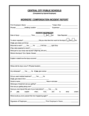 Printable employee incident report sample - Edit, Fill Out