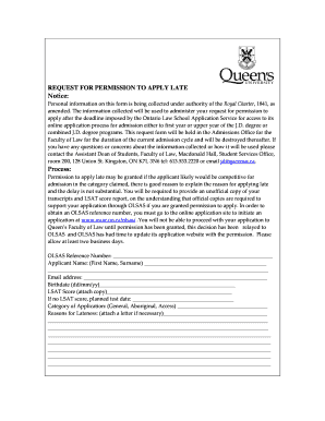 Printable sample of query letter for lateness edit fill out sample of query letter for lateness request for permission to apply late notice spiritdancerdesigns Choice Image