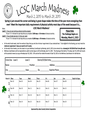 March Madness 2015 Activity Log - lcscorg