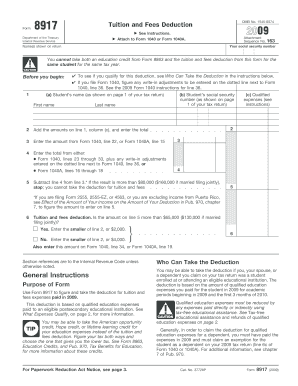 Printable Form 8917 instructions - Fill Online & Download in PDF ...