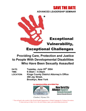 SAVE THE DATE - NYC Alliance against Sexual Assault - svfreenyc