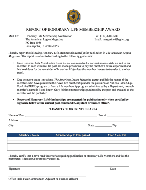 Honorary Life Membership Certificate Template. Honorary Life Membership  Notification  Life Membership Certificate Template