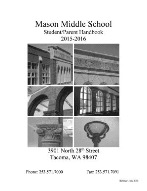 Fillable Online Mason Middle School - Tacoma Public Schools