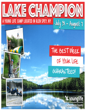 Lake Champion 2015 Camp bFormb Front - Champaign County bYoungb bb - il19 younglife