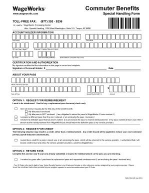 Wageworks Special Handling Form - Fill Online, Printable, Fillable ...