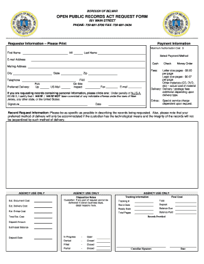 Belmawr Borough Nj Opra Request Form - Fill Online, Printable ...