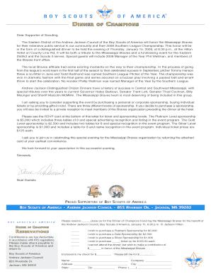 Fillable Online Boy Scouts Letter & Donation Form - MiLB.com Fax ...