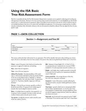 isa fillablle tree risk assessment form