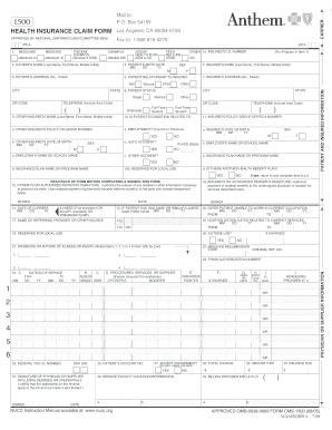 Fillable Online Member Claim Form - Anthem Fax Email Print ...
