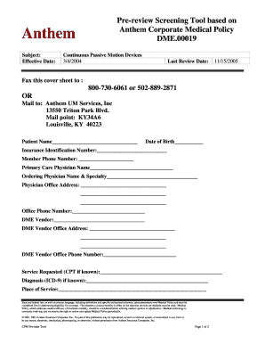 Printable anthem emergency room coverage to Submit in PDF ...