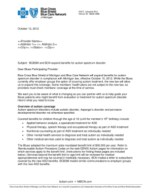 fillable online bcbsm and bcn autism physician letter - e-referral