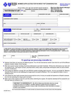 blue cross blue shield vision reimbursement form Templates ...