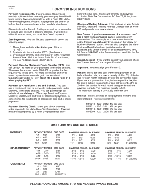 Idaho State Tax Form 910 - Fill Online, Printable, Fillable, Blank ...