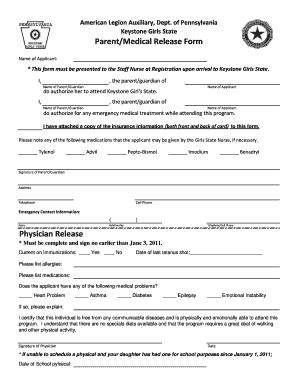 physician release parentmedical release form pa legion - Physician Release Form