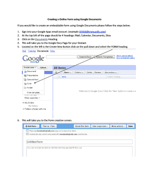 Creating a Online Form using Google Documents If you ... - TeamUnify