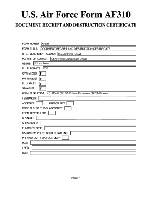 Air Force Form - Fill Online, Printable, Fillable, Blank | PDFfiller