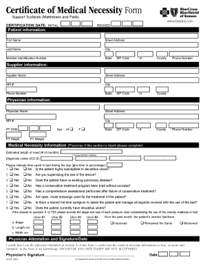 Fillable Online Certificate of Medical Necessity Form - Support ...
