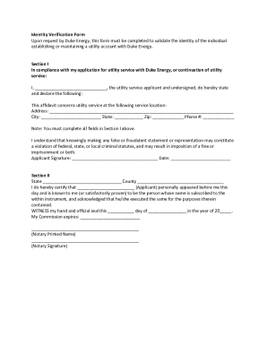 Duke Energy Ohio Id Verification Form - Fill Online, Printable ...