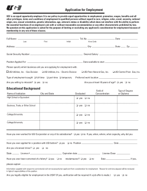Application for Employment - Ugi.com