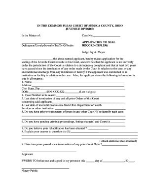 Ohio Expungement Form - Fill Online, Printable, Fillable, Blank ...