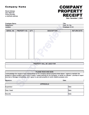 Example Of Acknowledgement Receipt from www.pdffiller.com