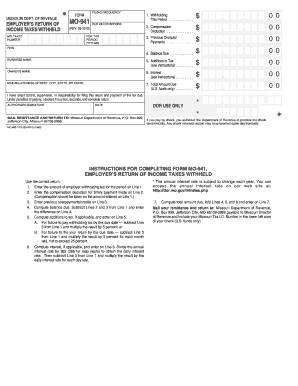 941 form mail  10 Printable where to mail 10 for 10 Forms and Templates ...