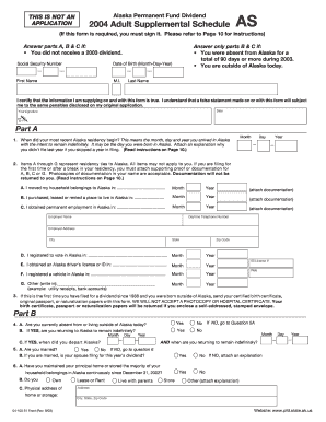 Ak Pfd Adult Supplemental Form - Fill Online, Printable, Fillable ...