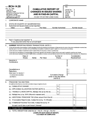 2003-2017 Form IL BCA-14.30 Fill Online, Printable, Fillable ...
