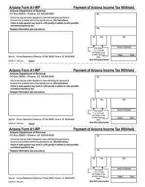 Arizona form a1 wp Fill Online, Printable, Fillable, Blank - PDFfiller