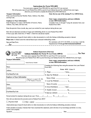 w2 form indiana  11 Printable indiana state tax withholding form Templates ...