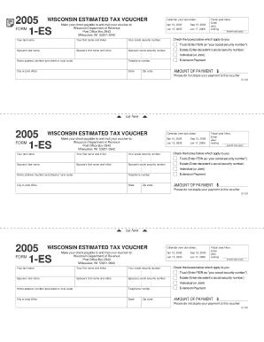 Fillable Online 2005 D-101 Form 1-ES, Wisconsin Estimated Tax ...