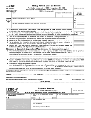 2290 form to print  Fillable Online Form 7-V - FormSend Fax Email Print ...