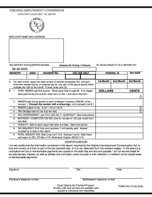 Fillable Online VEC-FC-21 FORM - FormSend Fax Email Print - PDFfiller