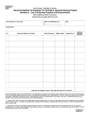 Hawaii general excise tax form - Edit, Fill, Print & Download ...