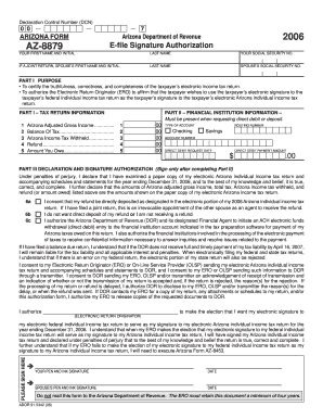 2015 Arizona Tax Form 8879 - Fill Online, Printable, Fillable ...