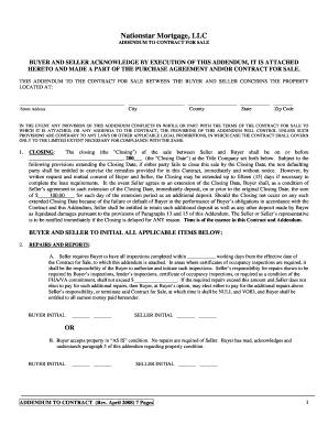 sales contract addendum template