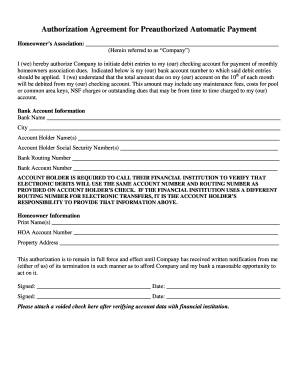 Fillable Online Ach Form Professional Hoa Consultants Fax