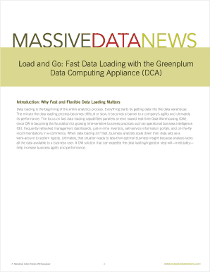 Fast Data Loading With The Greenplum Computing Emc