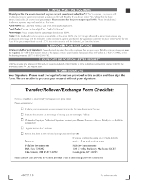 Fillable Online Transfer/Rollover/Exchange Form Instructions ...