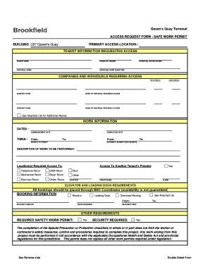 permit to work at height template - work permit form image format fill online printable