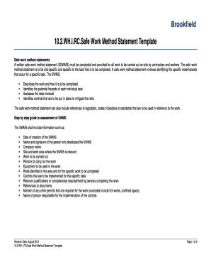 10.2.WH.I.RC.Safe Work Method Statement Template