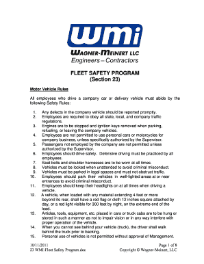 company car rules for employees to Download - Editable