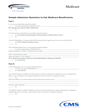 Sample Msp Questionnaire Form