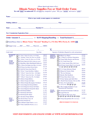 Printable Illinois Notary Stamp - Fill Online, Printable ...