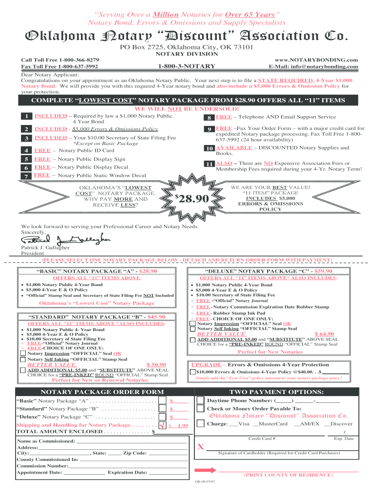 Ardmore Oklahoma Notary Public - Fill Online, Printable ...