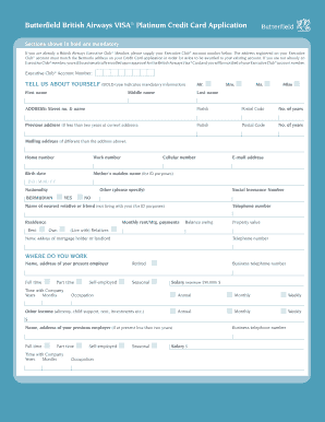 British Airways Form In Pdf - Fill Online, Printable ...