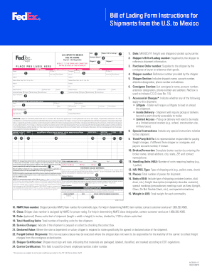 Fedex Bill Of Lading - Fill Online, Printable, Fillable, Blank ...